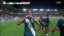 ¡A minutos del final! Martínez manda al fondo el 0-1 ante Necaxa