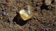 Mujer halla un hermoso diamante amarillo en un parque natural de Arkansas (y se lo queda)