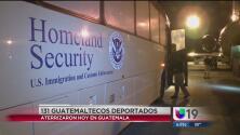 Deportan el primer grupo de 131 guatemaltecos