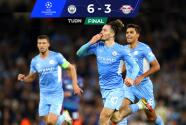 ¡Ganó, gustó y goleó! Manchester City aplastó a un valiente Leipzig