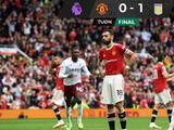 Manchester United falla penal en el último minuto y pierde ante el Aston Villa