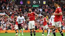 Bruno Fernandes le 'quita' penal a CR7, lo falla y el United pierde