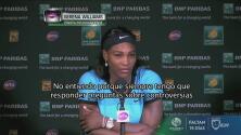 """Serena Williams: """"No creo que ninguna mujer deba arrodillarse, erróneas declaraciones"""""""
