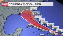 ¿A partir de cuándo comienza a sentirse el impacto de la tormenta tropical Fred en el sur de Florida?