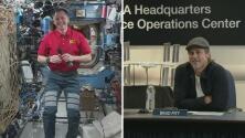 """Brad Pitt pone en aprietos a un astronauta al preguntarle en una charla: """"¿Quién es más creíble, Clooney o yo?"""""""