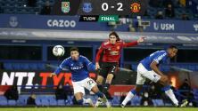 Cavani echa de la Carabao Cup al Everton de James Rodríguez