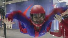 Cristina Romero experimentó una de las mejores sensaciones al volar en un túnel de viento