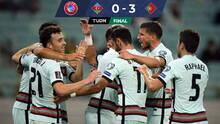 Portugal venció a Azerbaiyán y retomó la punta del Grupo A