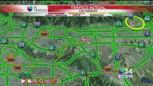 Condiciones de tránsito ligeras en Los Ángeles