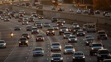 Tráfico fluido y sin contratiempos, así se ven las principales vías de Los Ángeles la mañana de este lunes