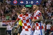 Resumen   Croacia goleó a Eslovenia y sigue en dura pelea con Rusia