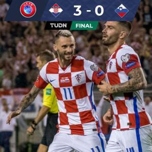 Resumen | Croacia goleó a Eslovenia y sigue en dura pelea con Rusia