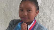 Con solo 8 años, niña mexicana gana un reconocimiento por inventar un calentador solar de agua
