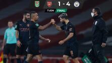 El City le clava cuatro al Arsenal y lo elimina de la Carabao Cup