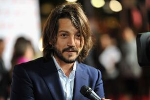 """HOLLYWOOD, CA - MARCH 14: Actor Diego Luna arrives at Premiere of Pantelion Films' """"Casa De Mi Padre"""" at Grauman's Chinese Theatre on March 14, 2012 in Hollywood, California. (Photo by Kevin Winter/Getty Images)"""