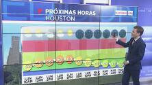 A Houston le espera una noche despejada y tranquila este lunes, tras algunos chubascos en la tarde