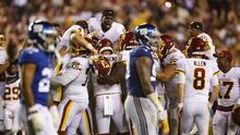 Washington no quiere quedarse atrás en su división y vencen a los Giants