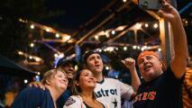 """""""Estuvo bueno el juego"""": fanáticos de los Astros celebran victoria del equipo en el segundo juego ante los Bravos"""