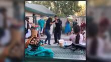 """Policía de San José causa sensación bailando cumbia con """"La Huaracha Sabrosona"""""""