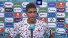 """Varane a TUDN: """"Estoy muy feliz por Benzema, no ha sido fácil para él"""""""