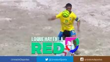 Un genio: Mira los golazos y fantásticas asistencias de Ronaldinho jugando fútbol playa