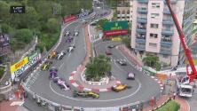 Salida limpia: así fue el espectacular inicio del GP de Mónaco