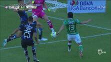 Ángel Mena con León está brillando e hizo el 2-0 contra Gallos Blancos