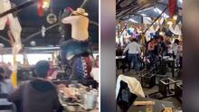(VIDEO) Caballo cae sobre mesa de un restaurante mientras se realizaba un show