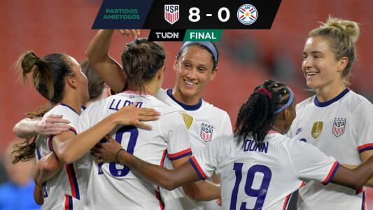 ¡Sin meter el acelerador! Team USA domina y golea 8-0 a Paraguay