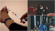 """""""El covid-19 no discrimina"""": Realizan evento de vacunación en el FTX Arena para policías del sur de Florida"""