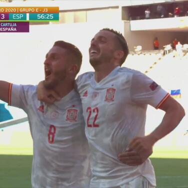 ¡España ya golea! Pablo Sarabia pone el 0-3 con una media vuelta