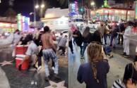 Video capta violenta pelea en paseo de la fama de Hollywood