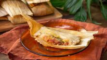 Tamales de chorizo y queso