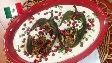 Platillo 100% mexicano: Martha y Omar nos prepararon Chiles en Nogada