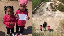 Encuentran a dos niñas hermanas que cruzaban solas la frontera