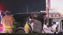 Policía de Austin queda atrapado debajo de un camión de carga en la carretera FM 969