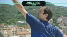 De azotea a azotea, Federer sorprende a niñas tenistas