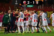 Con agónico gol, Estrella Roja vence al Sporting Braga