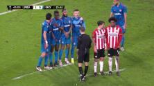 ¡GOL!  anota para PSV Eindhoven. Eran Zahavi
