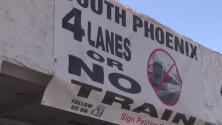 Dueños de negocios en el sur de Phoenix rechazan la construcción de la extensión del tren ligero