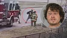 Bombero iba a apagar un incendio pero termina golpeando y pateando a un desamparado en Dallas