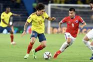 Colombia logra vencer 3-1 a Chile con histórico doblete de Miguel Borja y un tanto de Luis Díaz.