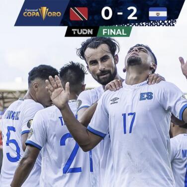 El Salvador va a cuartos de final tras vencer 2-0 a Trinidad y Tobago