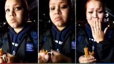 (Video) Comiéndose unos churros, joven le pide matrimonio a su novia y le saca las lágrimas
