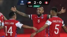 De la mano de Arturo Vidal, Chile derrota a Perú
