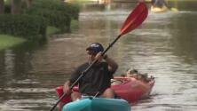 Los ríos y arroyos que rodean al condado de Brazoria van a seguir subiendo de nivel