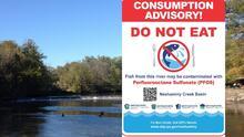 ¡No lo comas! pescado capturado en la cuenca de Neshaminy Creek pueden estar contaminados