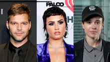 Elliot Page, Demi Lovato, Ricky Martin y los orgullosos de ser LGBTQ