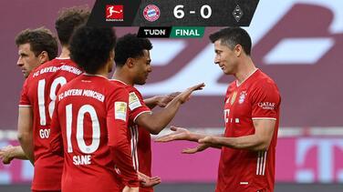 Bayern estrena título con media docena para el Mönchengladbach