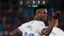 Vinícius, con doblete, evitó la derrota del Real Madrid ante el Levante